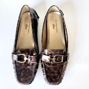 Anne Klein | iflex Patent Animal Print Loafers